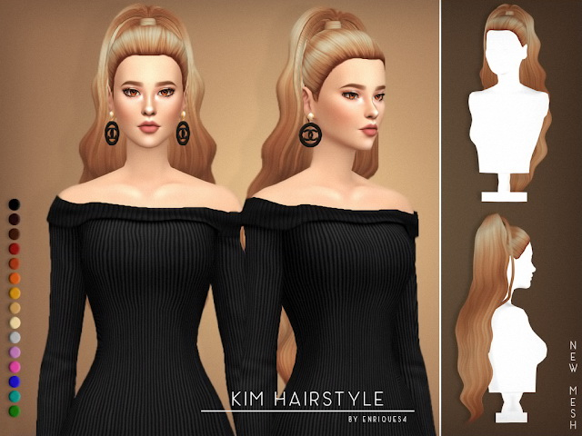 Kim Hairstyle at Enriques4 image 2481 Sims 4 Updates
