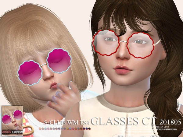Sims 4 Glasses CT 201805 by S Club WM at TSR