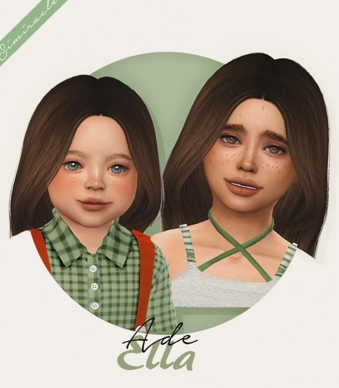 Sims 4 Ade Ella hair kids & toddlers at Simiracle