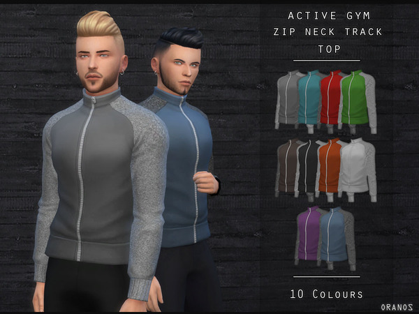 Active Gym Zip Neck Track Top by OranosTR at TSR image 256 Sims 4 Updates
