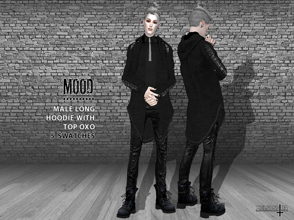 MOOD Male Long Hoodie with Top by Helsoseira at TSR image 2613 Sims 4 Updates
