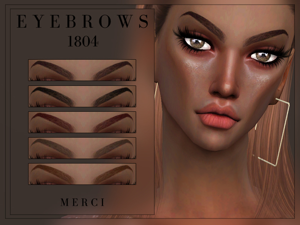 Eyebrows 1804 by Merci at TSR image 2618 Sims 4 Updates