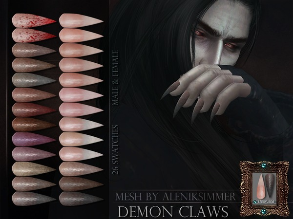 Sims 4 Demon Claws by RemusSirion at TSR