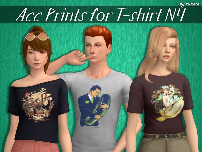 Acc Prints for T shirts Part 4 at Tukete image 2632 670x505 Sims 4 Updates