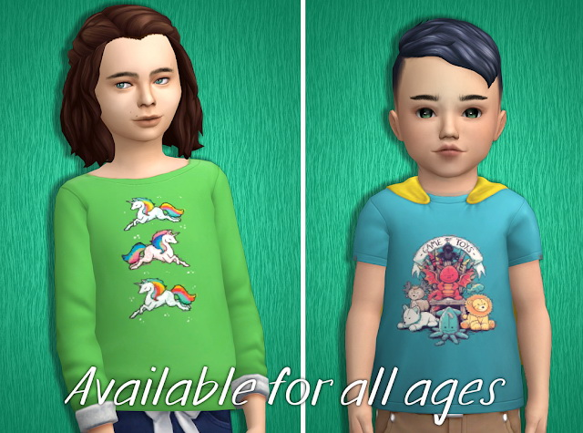 Acc Prints for T shirts Part 4 at Tukete image 2642 Sims 4 Updates