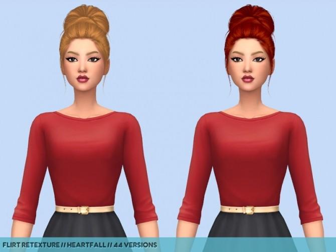 Sims 4 Hair retextures at Heartfall