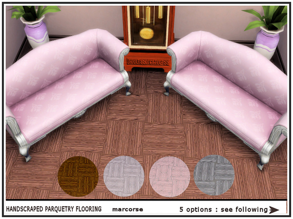 Handscraped Parquetry Flooring by marcorse at TSR image 2717 Sims 4 Updates