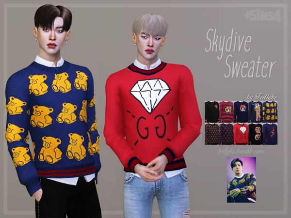 Skydive Sweater by Trillyke at TSR image 275 Sims 4 Updates