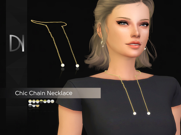 Chic Chain Necklace by DarkNighTt at TSR image 277 Sims 4 Updates