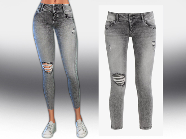 Sims 4 Low Rise Jeans by Saliwa at TSR