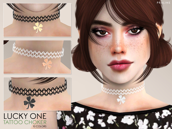 Lucky One Tattoo Choker by Pralinesims at TSR image 282 Sims 4 Updates