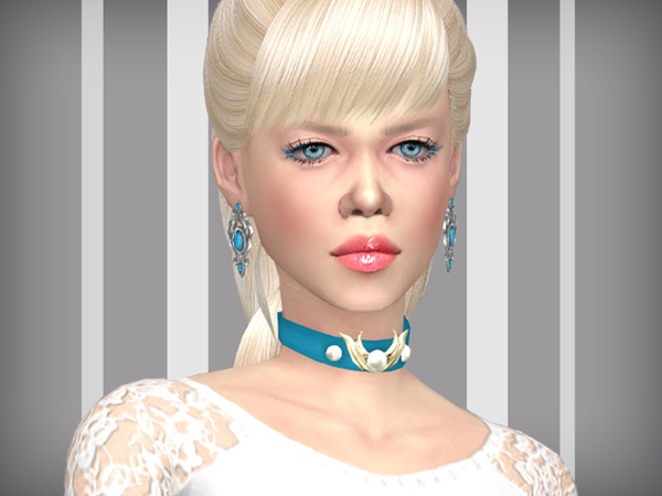 Sims 4 Noble silver earrings by WistfulCastle at TSR