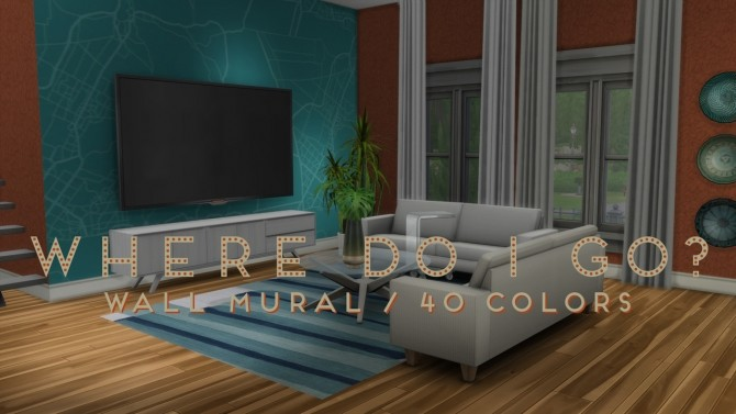 Map Wall Mural at b5Studio image 2912 670x377 Sims 4 Updates