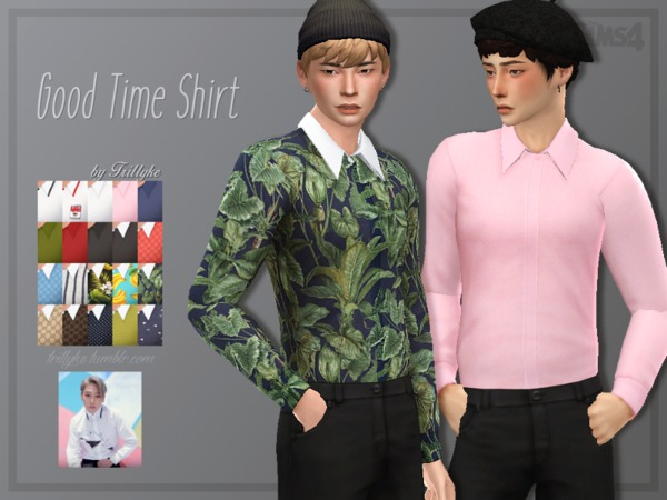 Sims 4 Good Time Shirt by Trillyke at TSR
