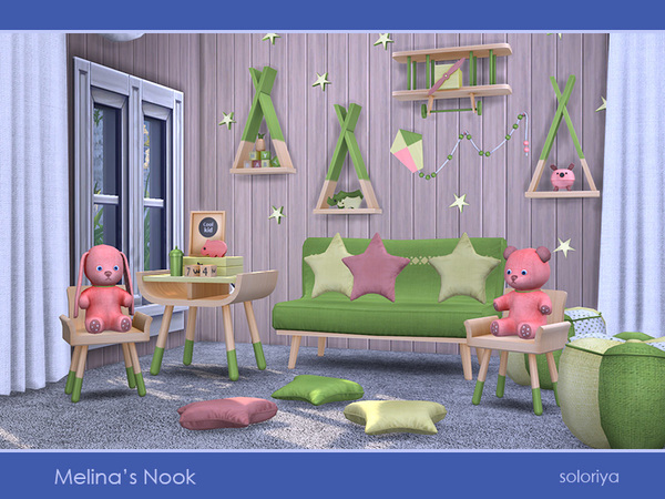 Melinas Nook set by soloriya at TSR image 3016 Sims 4 Updates