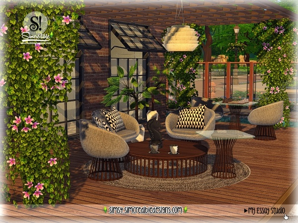 Sims 4 My Essay decor by SIMcredible at TSR