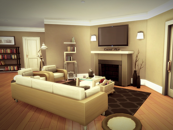 Sims 4 Redmond house NO CC by melcastro91 at TSR