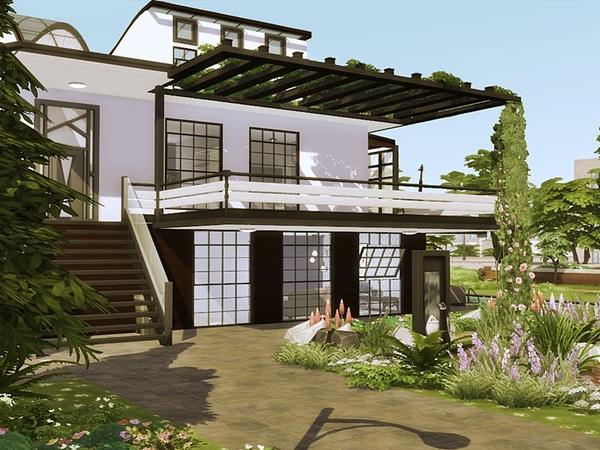 Sims 4 RITA modern home by marychabb at TSR