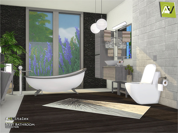 Nest Bathroom by ArtVitalex at TSR image 3110 Sims 4 Updates