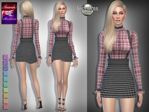 Sims 4 Amanda short dress 3 by jomsims at TSR