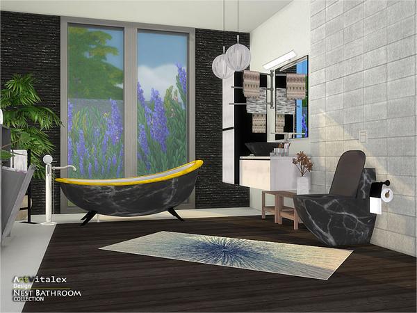 Nest Bathroom by ArtVitalex at TSR image 326 Sims 4 Updates