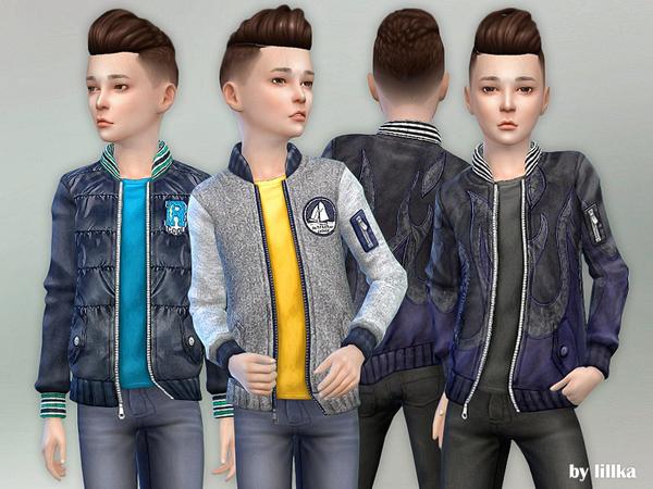 Sims 4 Designer Jacket for Children 02 by lillka at TSR