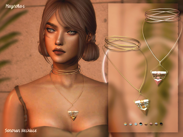 Sims 4 Sonoran Necklace by Magnolia C at TSR
