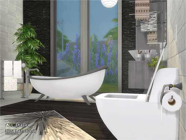 Nest Bathroom by ArtVitalex at TSR image 336 Sims 4 Updates