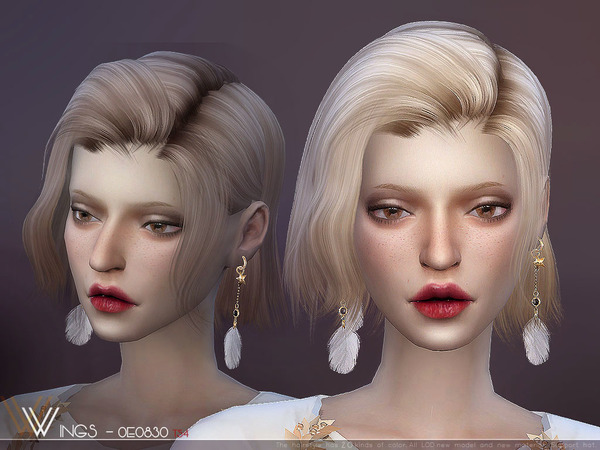 Hair OE0830 by wingssims at TSR image 3419 Sims 4 Updates