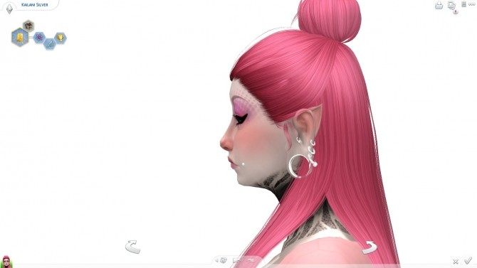 Sims 4 Kailani Silver by ScarlettxBlack at Mod The Sims