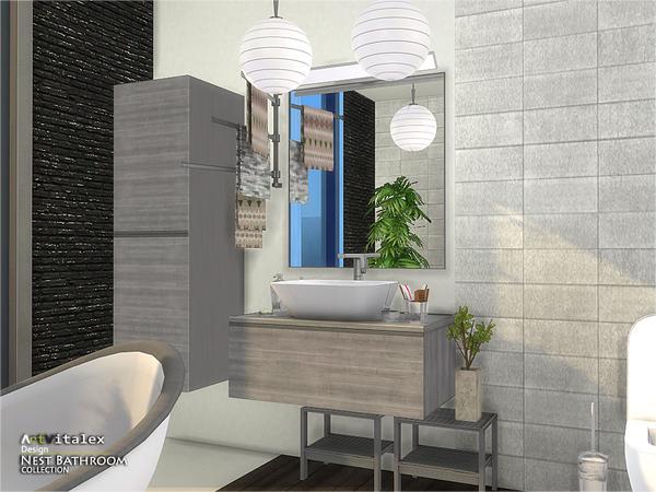 Nest Bathroom by ArtVitalex at TSR image 346 Sims 4 Updates