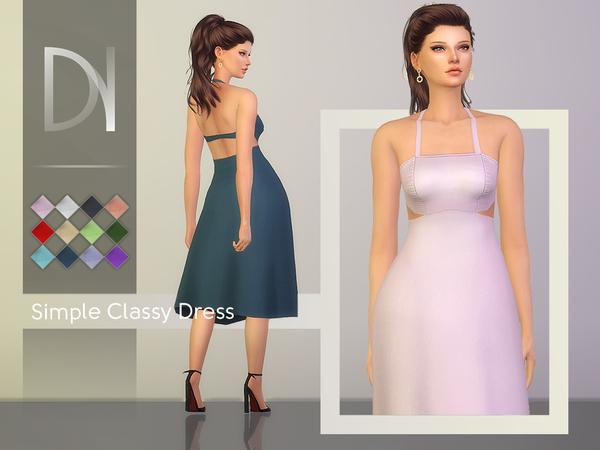 Sims 4 Simple Classy Dress by DarkNighTt at TSR