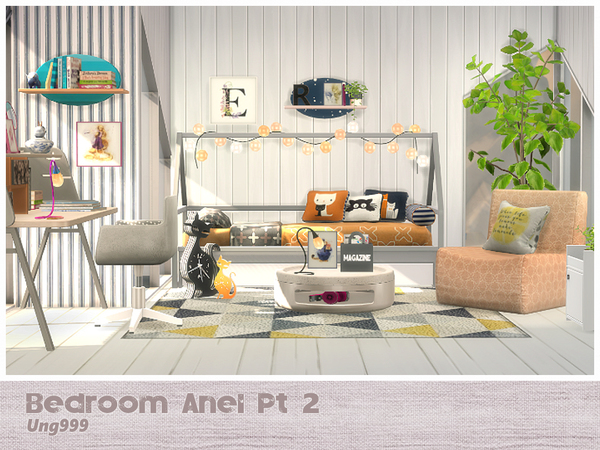 Bedroom Anel Pt. 2 by ung999 at TSR image 3513 Sims 4 Updates