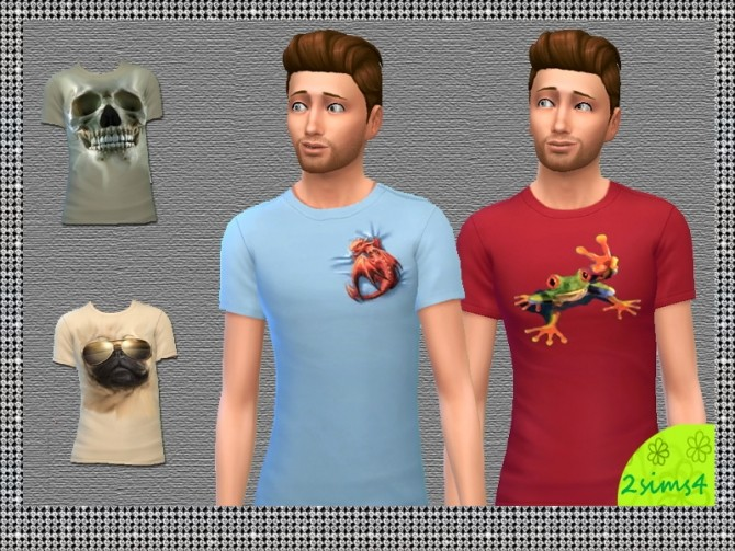 4 3D T shirt for males by lurania at Mod The Sims image 3519 670x503 Sims 4 Updates
