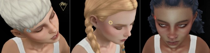 Sims 4 Glowing Android LEDs for Children by LadySpira at Mod The Sims