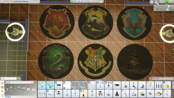 Sims 4 Harry Potter House Rugs (No text) by ScarlettxBlack at Mod The Sims