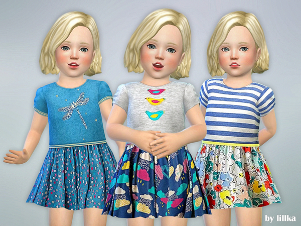 Sims 4 Toddler Dresses Collection P69 by lillka at TSR