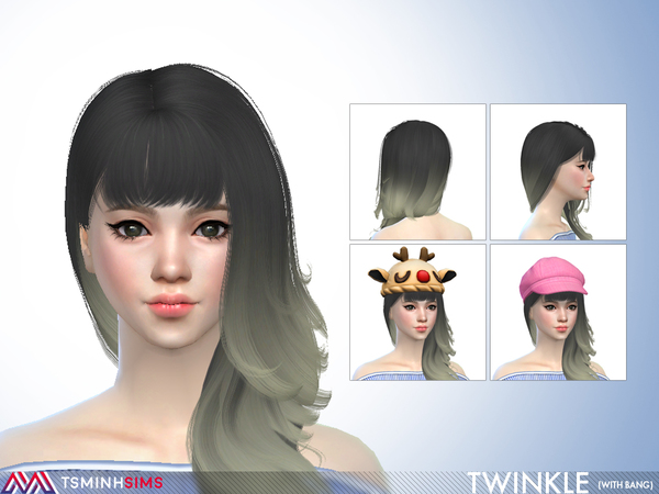 Twinkle Hair 65 with bang by TsminhSims at TSR image 371 Sims 4 Updates