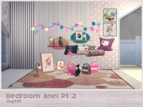 Sims 4 Bedroom Anel Pt. 2 by ung999 at TSR