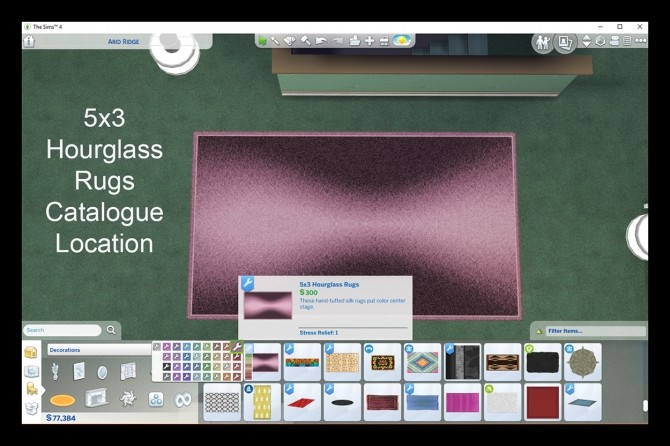 Sims 4 33 5x3 Hourglass Patterned Rug Recolours by Simmiller at Mod The Sims