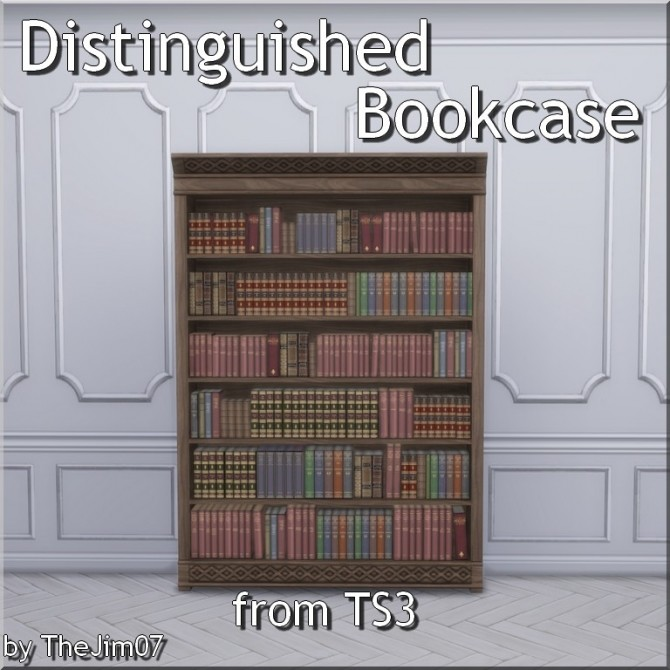 Distinguished Bookcase from TS3 by TheJim07 at Mod The Sims image 381 670x670 Sims 4 Updates