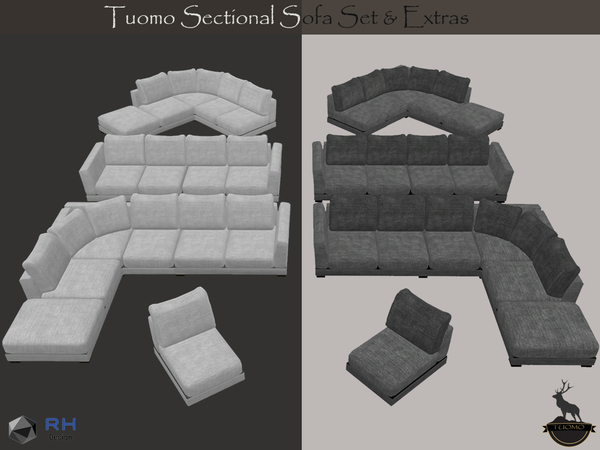 Tuomo Sectional Sofa Set And Extras By Righthearted At Tsr