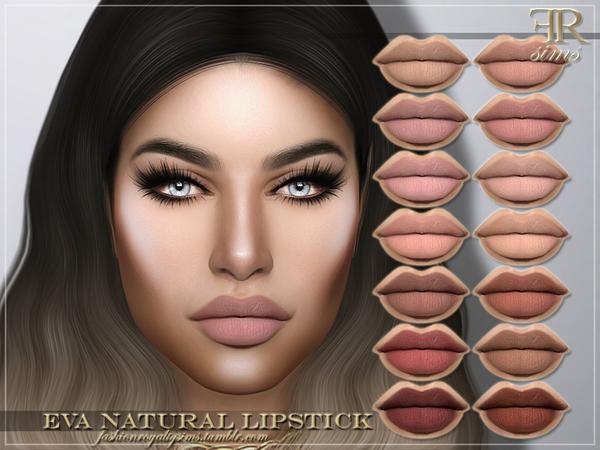 FRS Eva Natural Lipstick by FashionRoyaltySims at TSR image 3816 Sims 4 Updates