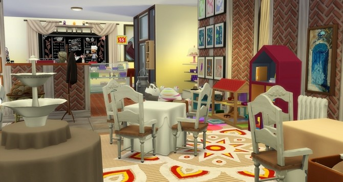 Sims 4 Best Lakeside Cafe by helene912 at Mod The Sims