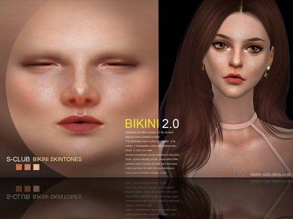 Bikini 2.0 skin ALL AGE by S Club WMLL at TSR image 383 Sims 4 Updates