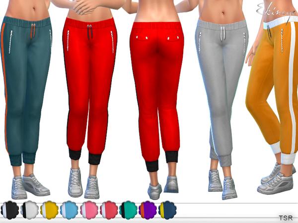 Sims 4 Side Stripe Sweatpants by ekinege at TSR