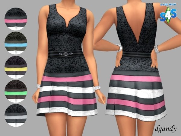 Sims 4 Gail lace top over a satin skirt by dgandy at TSR