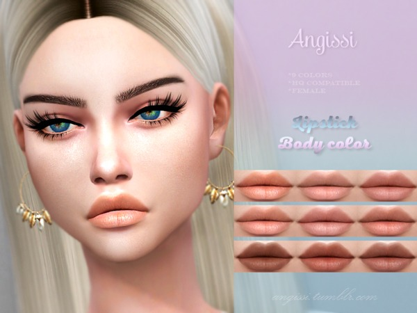 Lipstick Body color by ANGISSI at TSR image 4017 Sims 4 Updates