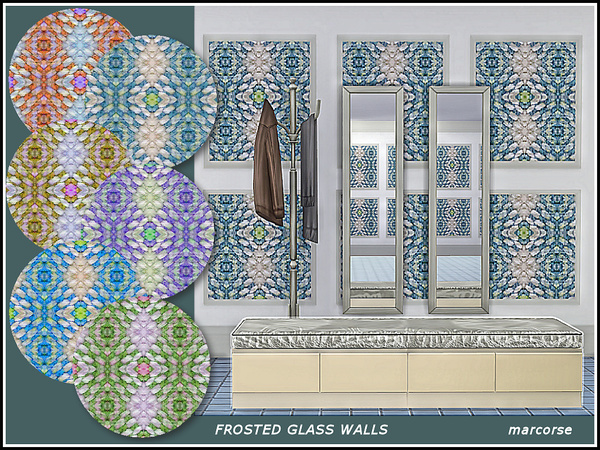Sims 4 Frosted Glass Walls by marcorse at TSR