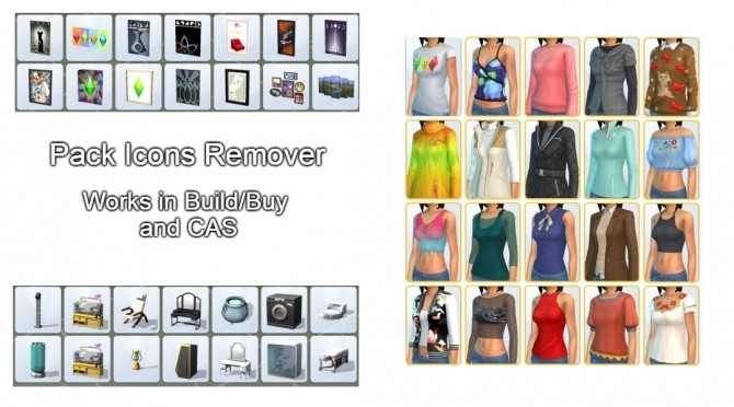 PIR Pack Icon Remover (works in BB and CAS) by tucatuc at Mod The Sims image 404 670x372 Sims 4 Updates